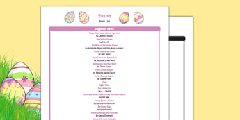 Easter Book List - EYFS, Early years, stories, non-fiction, Easter, festival, Christianity