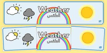 Weather Display Banner Arabic Translation - arabic, weather, display banner, display, banner