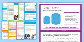 GCSE Maths Exam Tips and Techniques Display Posters - GCSE, algebra, number, standard form, solving, equations, angles, percentages, Fractions