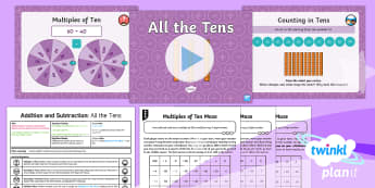 Y2 Addition and Subtraction Strategies (5) Lesson Pack - Keeping Track, Explain, Prove, Reasoning, Represent, Patterns, Continue A Pattern, Multiples Of Ten,