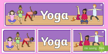Yoga Display Banner Display Banner  - Signs and Labels, yoga, exercise, healthy, stretch, display, header, banner