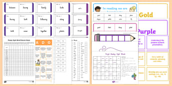 Purple Sight Words Resource Pack - NZ, Literacy, read, spell, write,