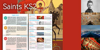 Imagine Saints KS2 Resource Pack - Saint George, Saint Therese of Lisieux, All Saints, Saint Nicholas, Saint Paul, maths, st georges da