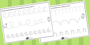 The Three Billy Goats Gruff Pencil Control Sheets - control