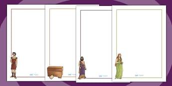 Pandoras Box Ancient Greek Myth Page Borders - ancient greece