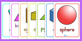 3D Shape Posters - 3D, shapes, 3D shapes, numeracy, maths display