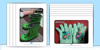 Îmbrăcăminte de iarnă - Planșe cu fotografii - îmbrăcăminte, haine, planșe, fotografii, iarna, decor, imagini, materiale, materiale didactice, română, romana, material, material didactic