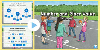 Year 3 Number and Place Value Maths Warm-Up PowerPoint - KS2 Maths warm up powerpoints, Numeracy, Year 3, Number and Place Value,  number work, estimation, e