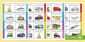 Mijloace de transport Joc Eu am... Cine are... - transport, jocuri, mijloace de transport, română viața de zi cu zi, transporturi