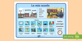 La Mia Scuola Vocabolario Illustrato Vocabolario Illustrato - vocabolario, illustrato, scuola, vocaboli, scolastici, italiano, italian