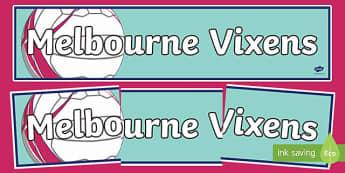 Melbourne Vixens Netball Display Banner-Australia