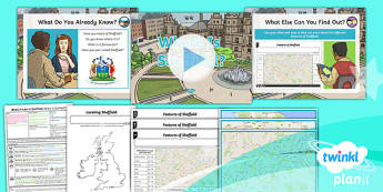 Geography: What's It Like in Sheffield?: Where Is Sheffield? Year 4 Lesson Pack 1