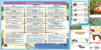 EYFS The Zoo Enhancement Ideas and Resources Pack EYFS Enhancement Ideas and Resources Pack - EYFS, Early Years Planning, Adult Led, Continuous Provision, At The Zoo, Zoo Animals, Animals, Zoo K