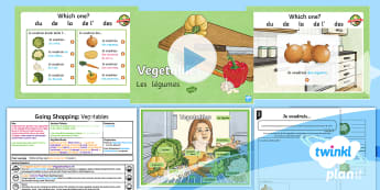 French: Going Shopping: Vegetables Year 4 Lesson Pack 2 - french, languages, grammar, food, vegetables