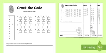 Crack the Code Addition and Subtraction to 20  Differentiated Activity Sheets - -Australia - problem solving, grade 3, calculations, operations,  number, worksheet,Australia, addition to 20, su