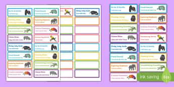 Animal Themed Characteristics of Effective Learning Stickers - COEL, animal, characteristics, effective learning, effective, learn, stickers