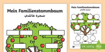 Deutsch-Arabische Materialien Familie - d