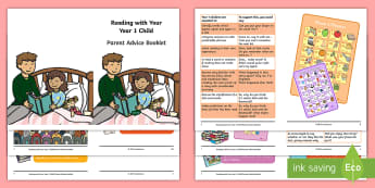 Year 1 Reading with Your Child Parent Advice Booklet - Y1, home readers, parent guidance, comprehension, understanding, questioning