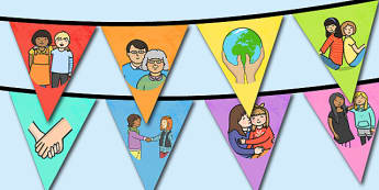 Guirlande de fanions : La semaine de la gentillesse - Enseignement moral et civique, amitié, rapport, autrui, relation, respect, coopération