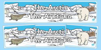 Arctic Display Banner Polish Translation - polish, arctic, display banner, display, banner, polar regions, polar