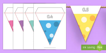 Decimal  Display Bunting - 3 Times Table Bunting - 3, times, table, bunting, multiplication, mulitplication, multipication, mul