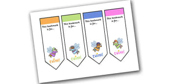 Editable Fairy Bookmarks - Bookmark, bookmark template, Fairies, Fairy, topic, fantasy, gift,  present, book, reward, achievement