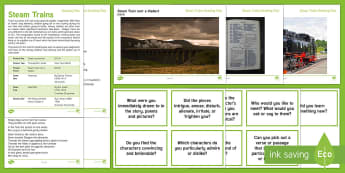 Elderly Care - Steam Trains Reading Plan Resource Pack - Reading Plan, Stimulation, Ideas, Support, English, Activity Co-ordinators, Elderly Care, Care Homes