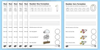 Number Formation Worksheets (0-9) - Handwriting, number formation, number writing practice, foundation, numbers, foundation stage numeracy, writing, learning to write, overwriting