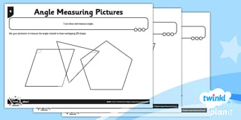 PlanIt Maths Y5 Properties of Shapes Angle Measuring Pictures Home Learning