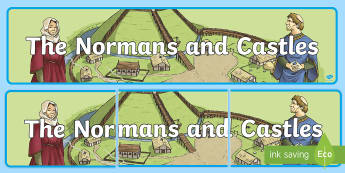 The Normans and Castles Display Banner-Irish