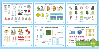 Year 1 Maths Vocabulary Word Mats - 2014 Curriculum Maths Vocabulary, maths vocabularly, matsh,