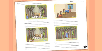 Goldilocks and the Three Bears Storyboard Template - storyboard