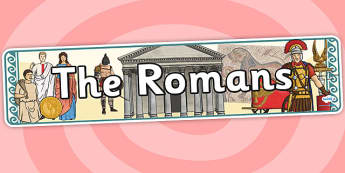 The Romans Display Banner - romans, display banner, banner