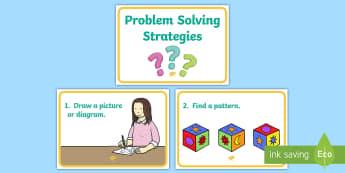 11 Problem Solving Strategies Display Posters - Prompts, Maths, Problem Solving, Hints, Strategies,Irish