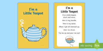 I'm a Little Teapot Nursery Rhyme IKEA Tolsby Frame - baby signing, baby sign language, communicate with baby, pre verbal baby, tiny talk, sing and sign,