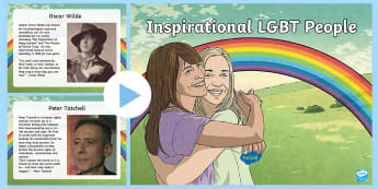 Inspirational LGBT People Information PowerPoint - LGBTI, LGBTQ, Role, Model, Famous, Celebrities, Activists, ,Scottish,Scottish
