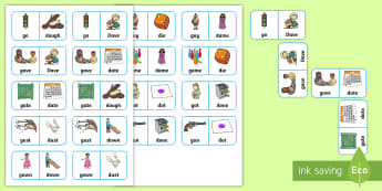'g' and 'd' Minimal Pair Dominoes - phonology, articulation, speech sounds, minimal pairs, fronting, backing, apraxia, dyspraxia, speech