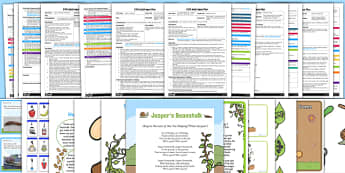 EYFS Adult Input Planning and Resource Pack to Support Teaching on Jasper's Beanstalk -EYFS, early years planning, bean life cycle, plants and growth, gardening