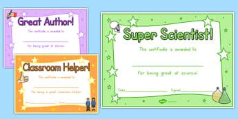 End of Year Award Certificates - usa, america, reward, awards, end of term