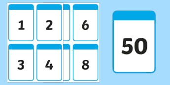 Number Digit 0-50 Cards - counting to 50, flash cards, maths game, place value, visual aid, Australia
