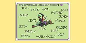 ¡Cómo mola tu escoba! Tapices de vocabulario-Spanish