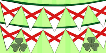 Saint Patricks Cross Display Bunting - display bunting, patrick