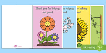Thank You for Helping Me Grow! Card Craft - Teacher Appreciation Week, Teacher Appreciation, plants, seedling, seed, grow, thanks, thank you, gi