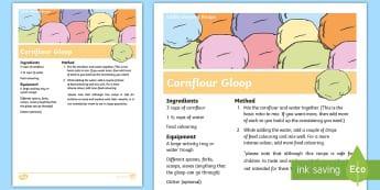 Cornflour Gloop Recipe - Cornflour, Gloop, sensory, fun, exploration