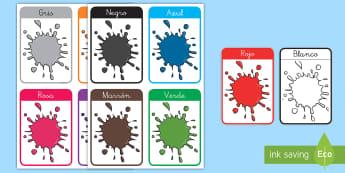 Tarjetas educativas: Los colores - tarjetas educativas, colores, color, tarjeta, tarjetas, ,Spanish
