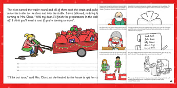 Santa's Busy Christmas Eve Fine Motor Skills Story - christmas