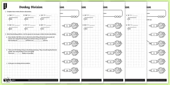 Short Division Activity Sheets