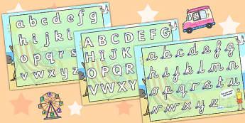 Seaside Themed Letter Writing Worksheet - sea, writing template