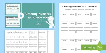 Year 6 Numbers to 10,000,000 Lesson 4 Teaching Pack - numeracy, KS2