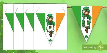 St. Patrick's Day Display Bunting - saint patrick, saint patrick's day, st patrick, st. patrick, ireland, eire, northern ireland, bunti